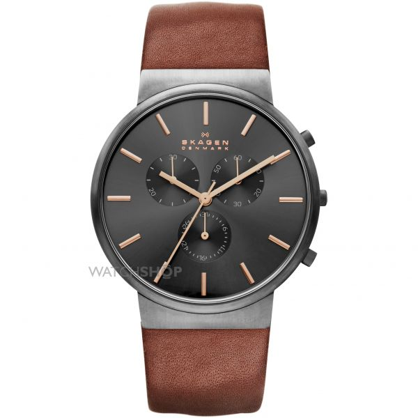 Mens Skagen Ancher Chronograph Watch SKW6106