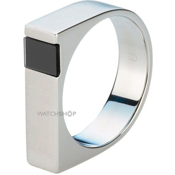Mens STORM Stainless Steel Jaxton Ring Size S JAXTON-RING-BLACK-S