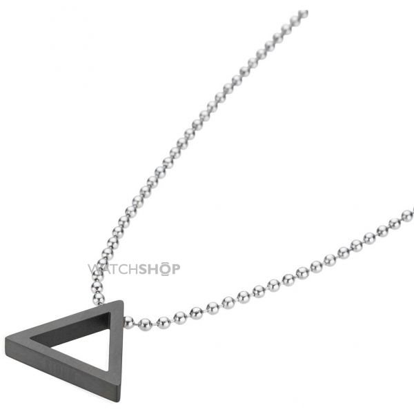 Mens STORM Stainless Steel Taylor Necklace TRILEX-PENDANT-BLACK