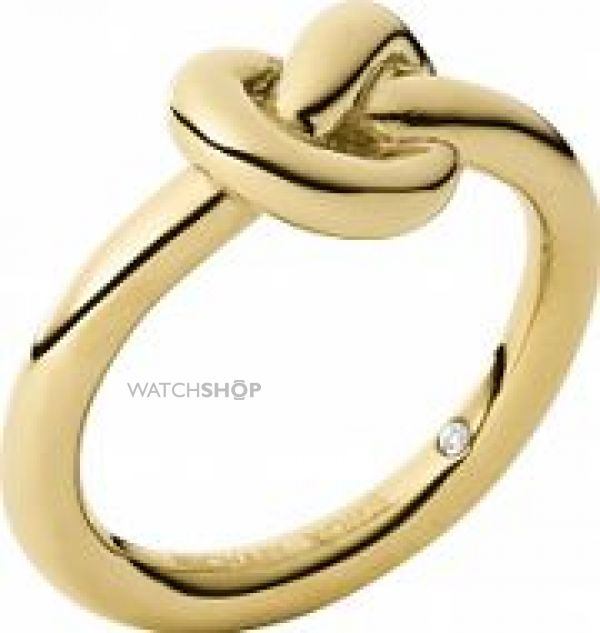 Ladies Michael Kors PVD Gold plated Ring Size L.5 MKJ4211710504