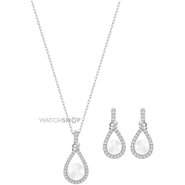 Ladies Swarovski Stainless Steel Enlace Set 5197607