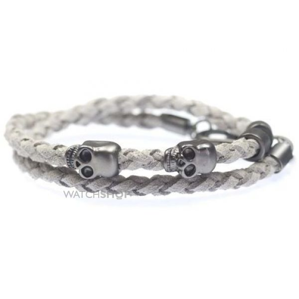 Icon Brand Base metal Twill Bracelet LE1044-BR-GRY