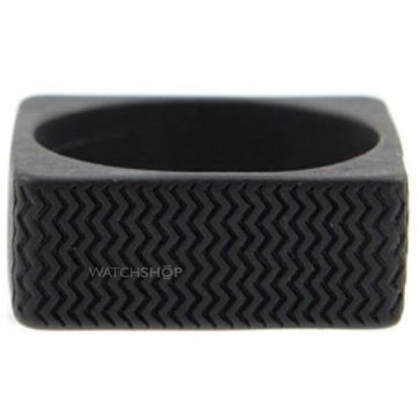 Icon Brand Base metal Surface Ring Size Medium P1093-R-BLK-MED