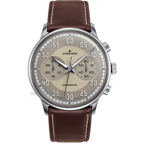 Mens Junghans Meister Driver Chronoscope Automatic Chronograph Watch 027/3684.00