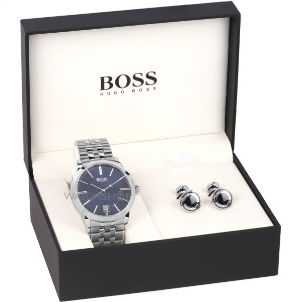 Mens Hugo Boss Cufflink Gift Set Watch 1570045