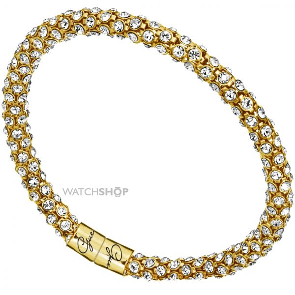 Ladies Guess Gold Plated Glamazon Crystal Bangle UBB81333