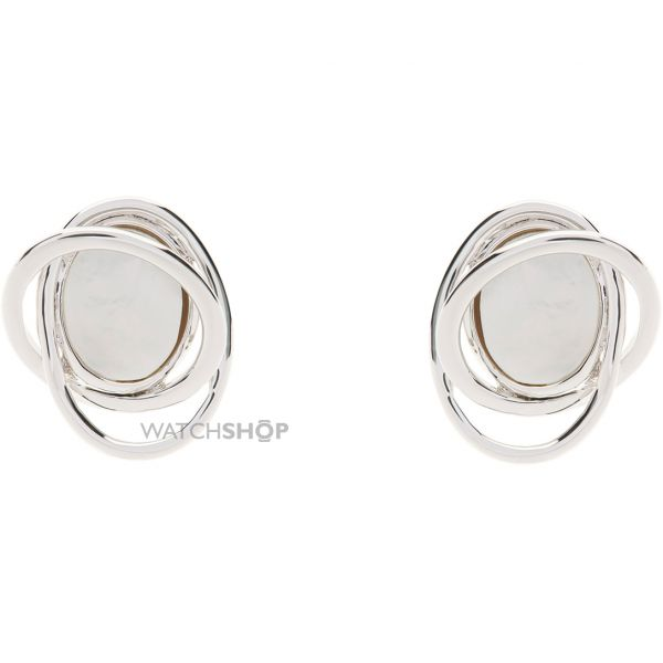 Ladies Karen Millen Base metal Rhythmic Oval Stone Earring KMJ888-01-46