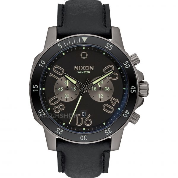 Mens Nixon Ranger Chrono Leather Chronograph Watch A940-2305