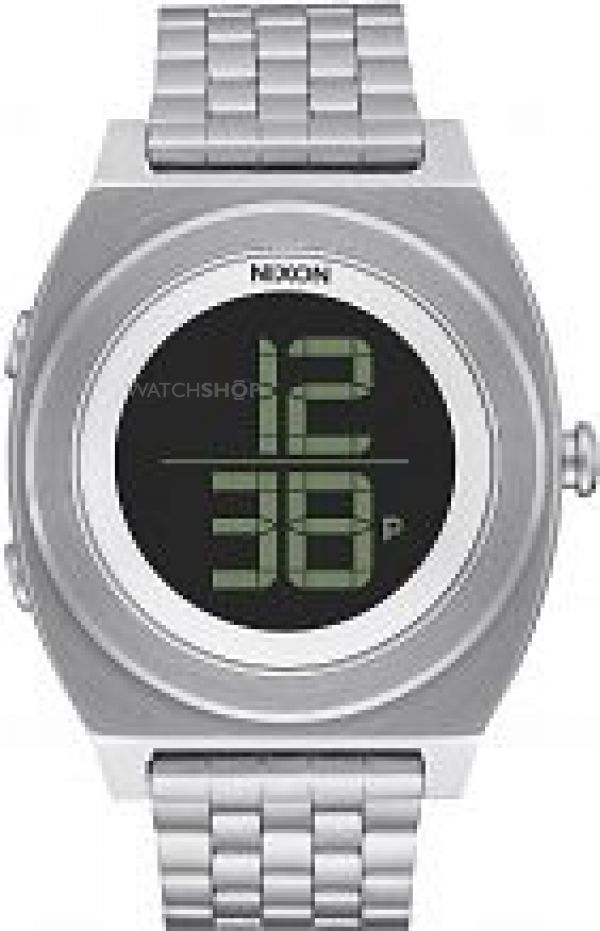 Unisex Nixon The Time Teller Digi SS Chronograph Watch A948-000