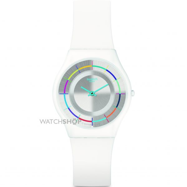 Ladies Swatch White Party Watch SFW109