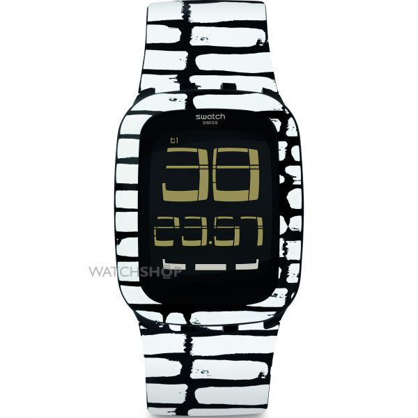 Unisex Swatch Touch Alarm Chronograph Watch SURB120