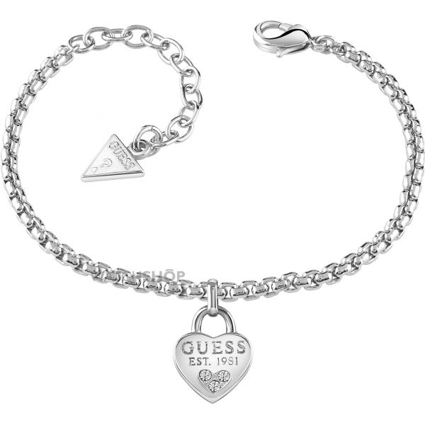 Ladies Guess PVD Silver Plated All About Shine Bracelet UBB82104-L