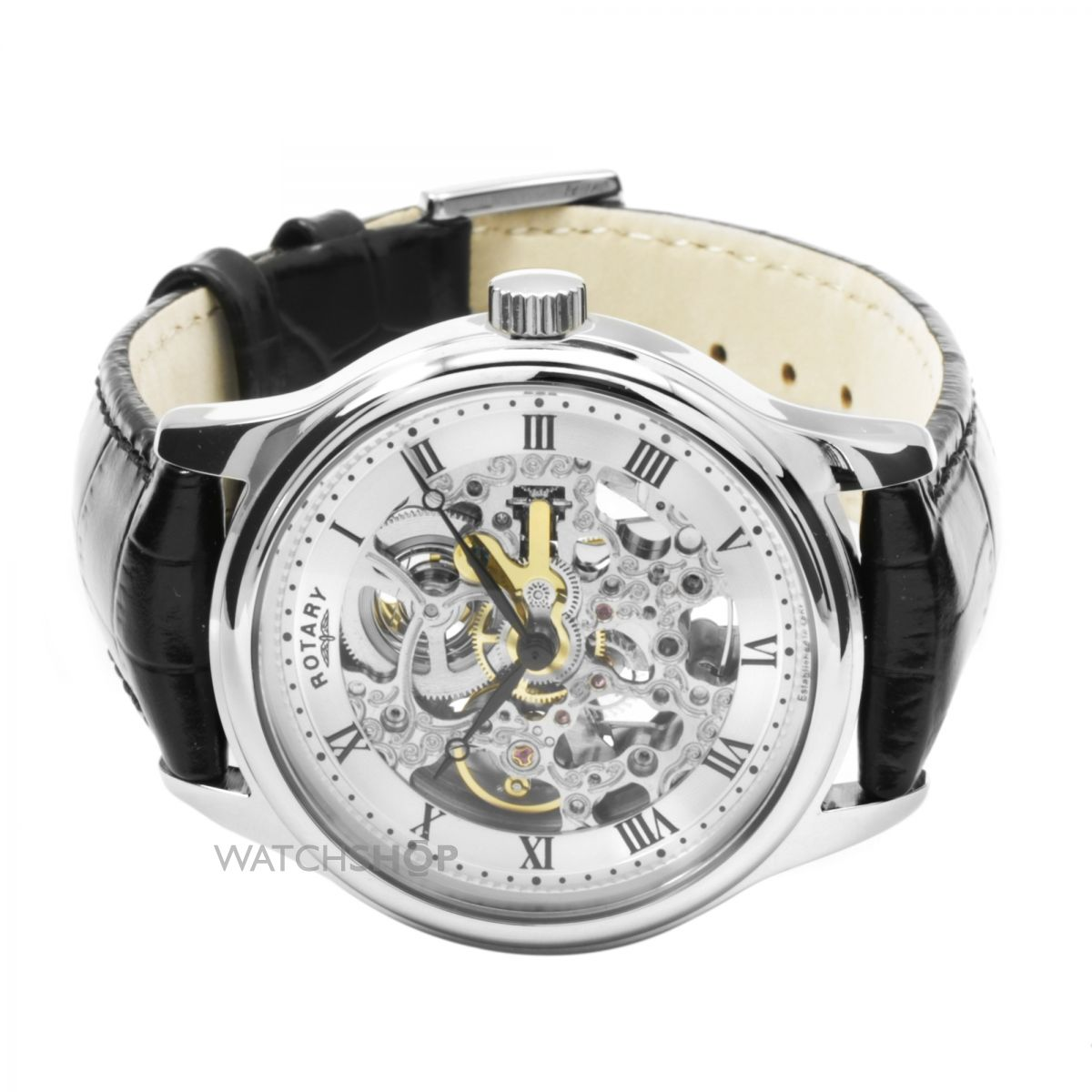 men s rotary vintage skeleton automatic watch gs02518 06 watch nearest click collect stores