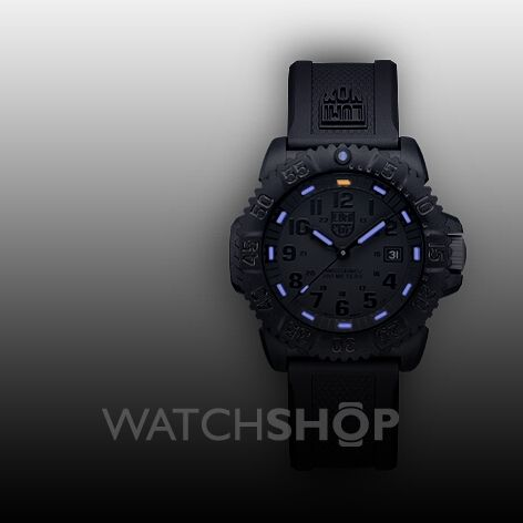 men s luminox navy seal colormark 3050 series blackout watch nearest click collect stores