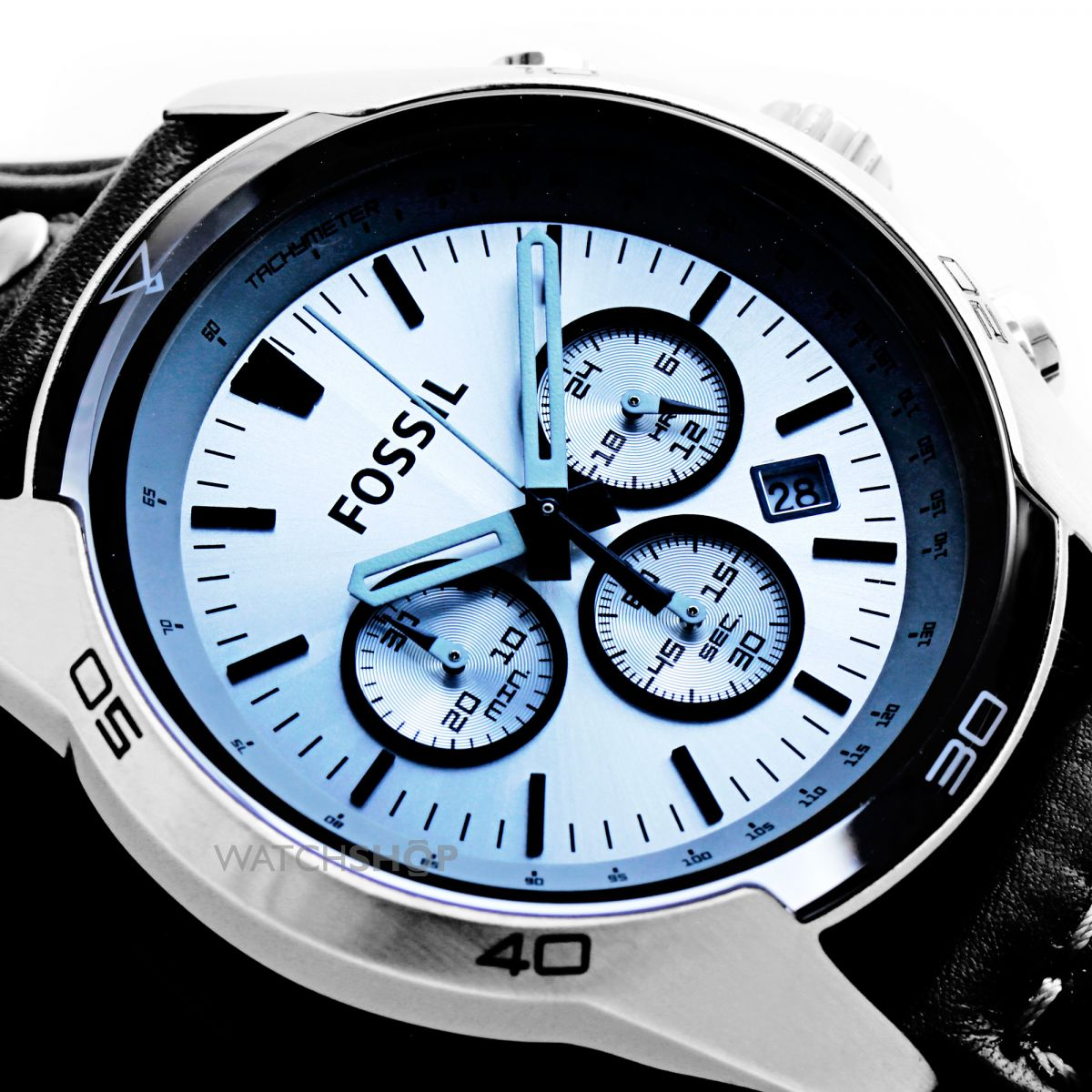 men s fossil coachman chronograph cuff watch ch2564 watch shop nearest click collect stores
