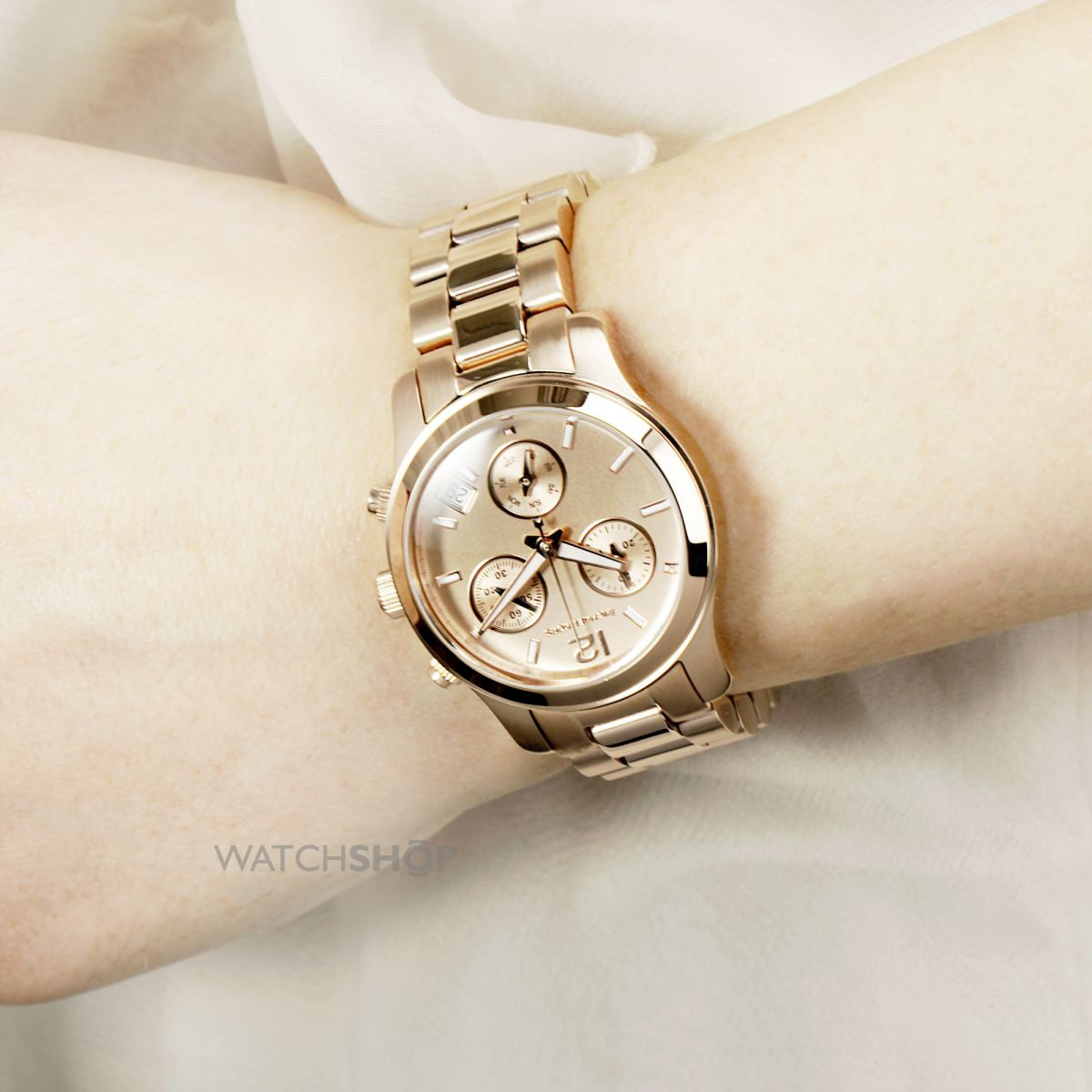 Ladies 39 michael kors runway chronograph watch mk5430 for Michaels craft store watches