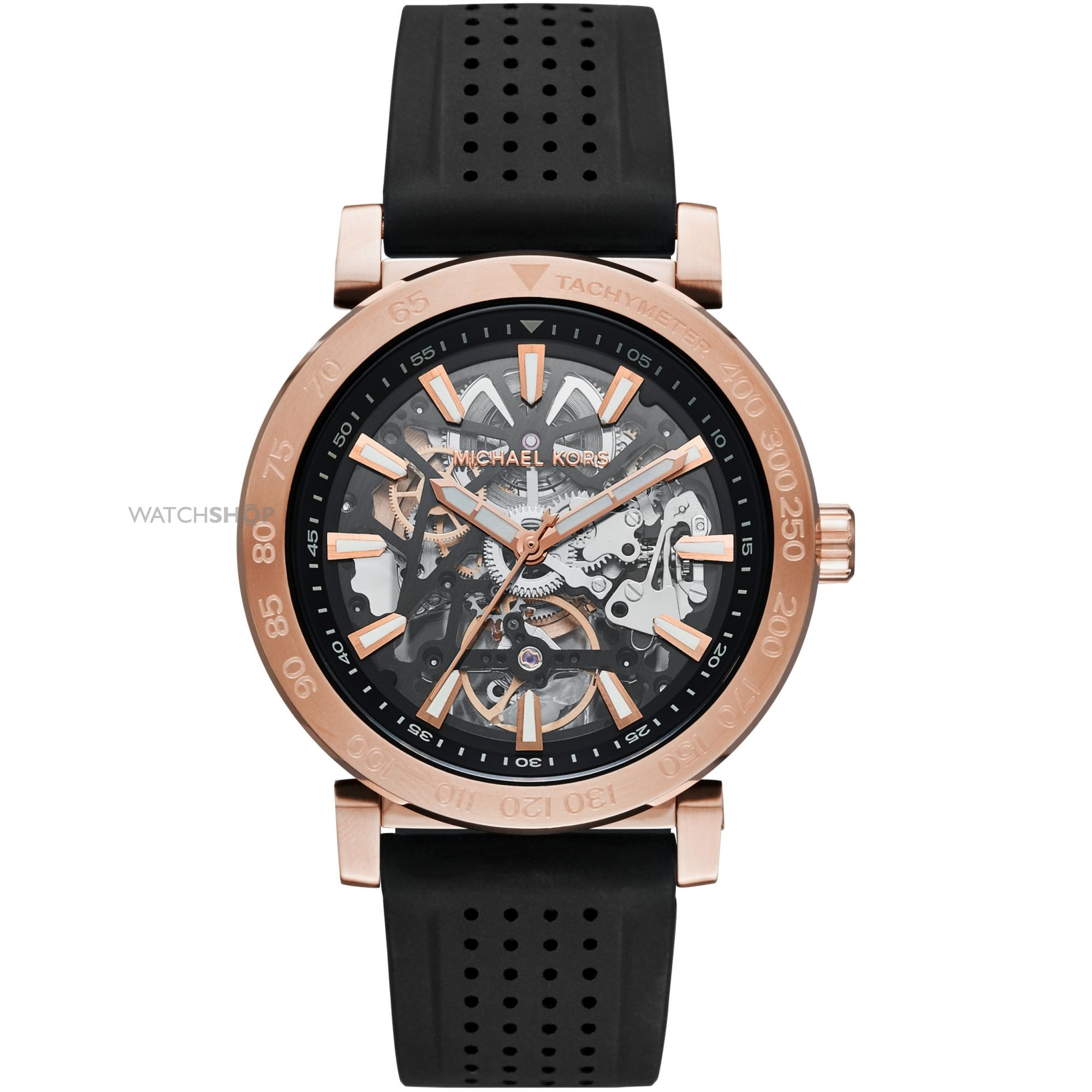"men s michael kors automatic watch mk9033 watch shop comâ""¢ mens michael kors automatic watch mk9033"