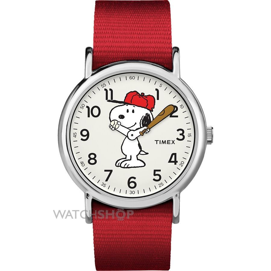 Unisex timex weekender timex x peanuts snoopy watch tw2r41400 watch for Cartoon watches