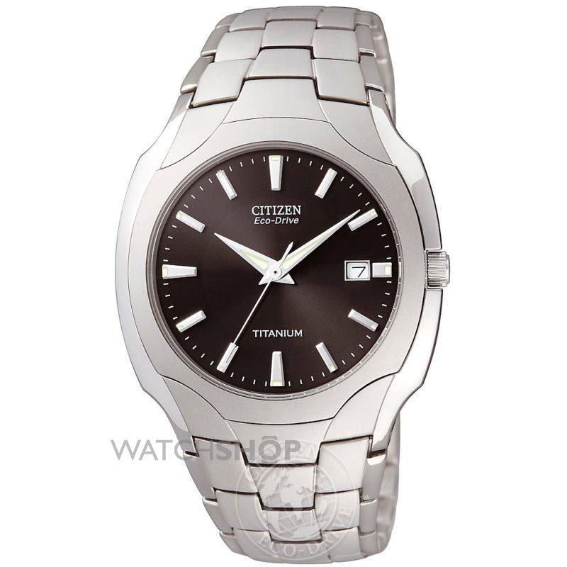 Men's Citizen Titanium Eco-Drive Watch (BM6560-54H ...