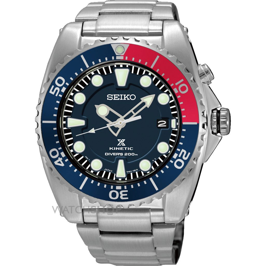 "seiko watches seiko divers watches watch shop comâ""¢ mens seiko diver kinetic watch ska369p1"