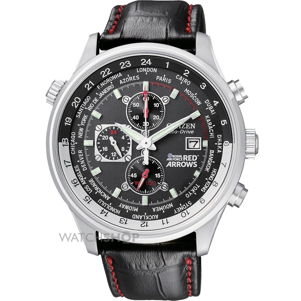 men s citizen red arrows world time chronograph eco drive watch mens citizen red arrows world time chronograph eco drive watch ca0080 03e