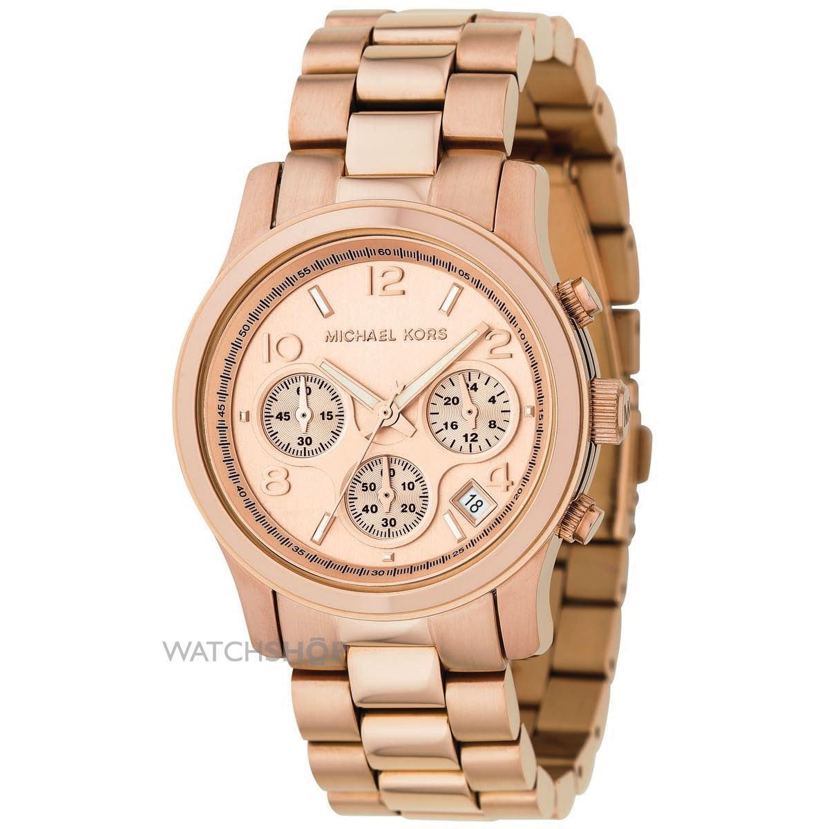 Ladies 39 michael kors runway chronograph watch mk5128 watch for Watches michael kors