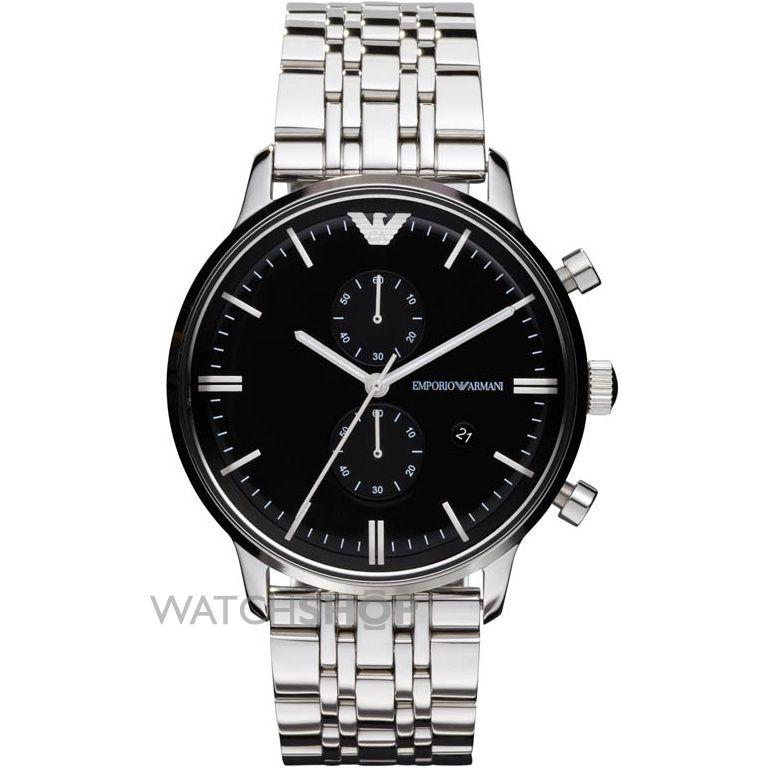 "men s emporio armani chronograph watch ar0389 watch shop comâ""¢ mens emporio armani chronograph watch ar0389"