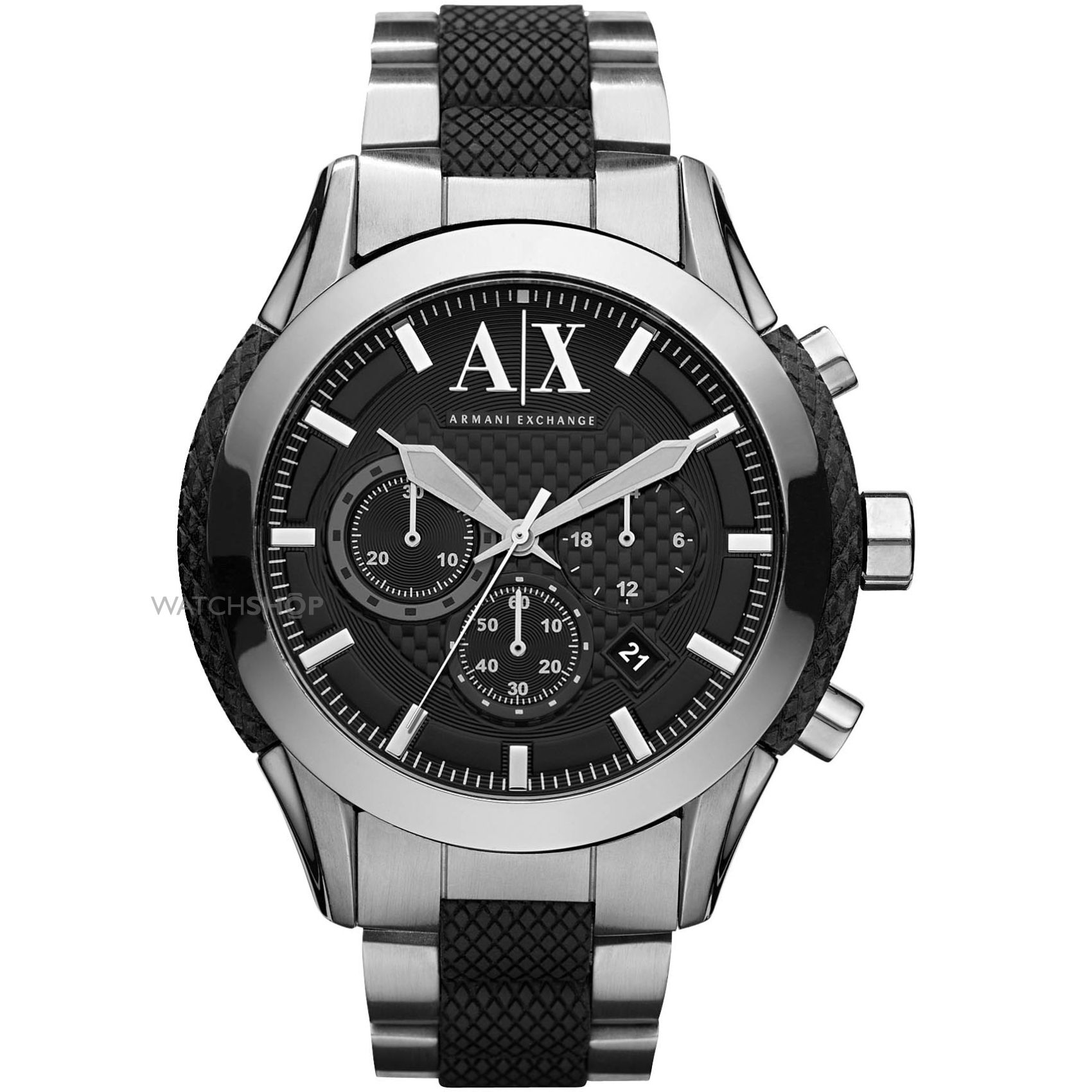 "men s armani exchange chronograph watch ax1214 watch shop comâ""¢ mens armani exchange chronograph watch ax1214"