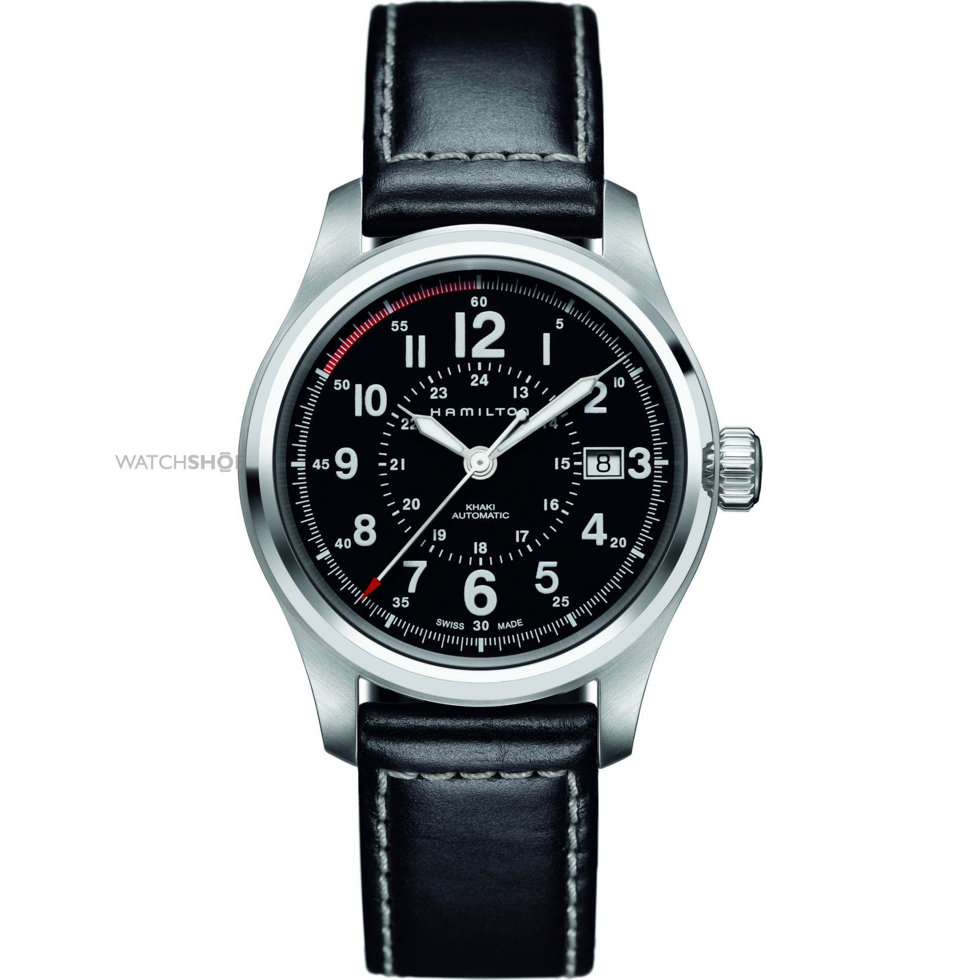 Men 39 s hamilton khaki field 40mm automatic watch h70595733 watch for Watches 40mm