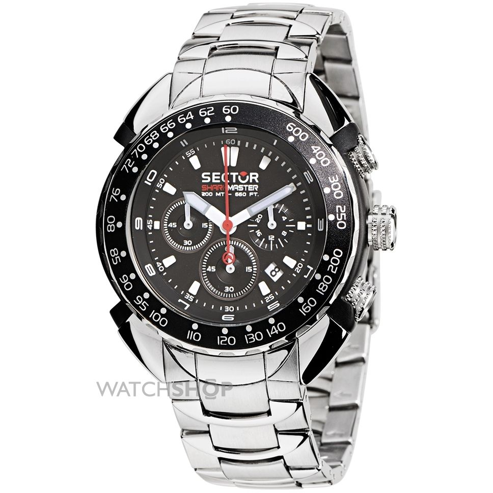 mens sector shark master collection chronograph watch