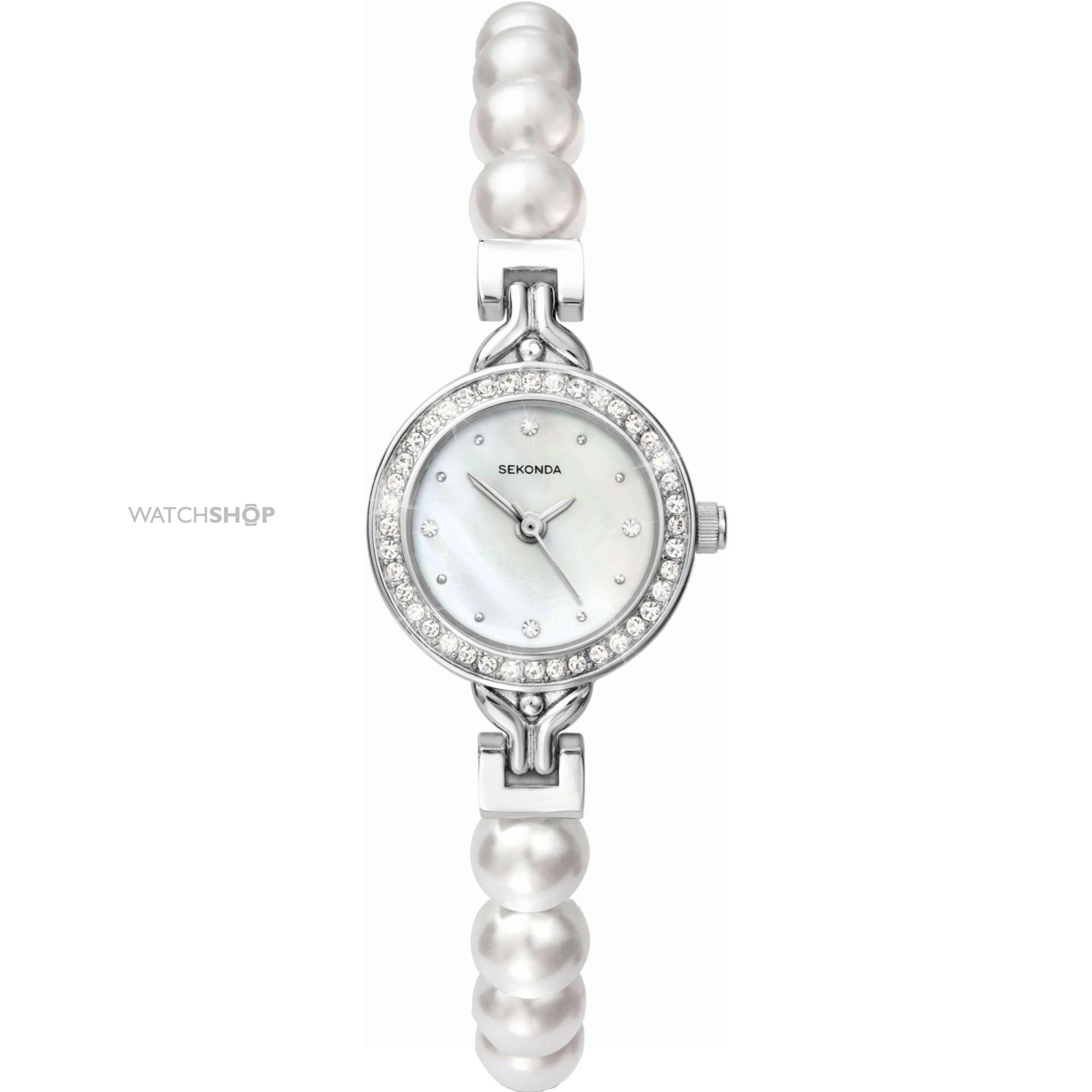 Ladies 39 sekonda crystalla pearl watch 4211 watch for Pearl watches