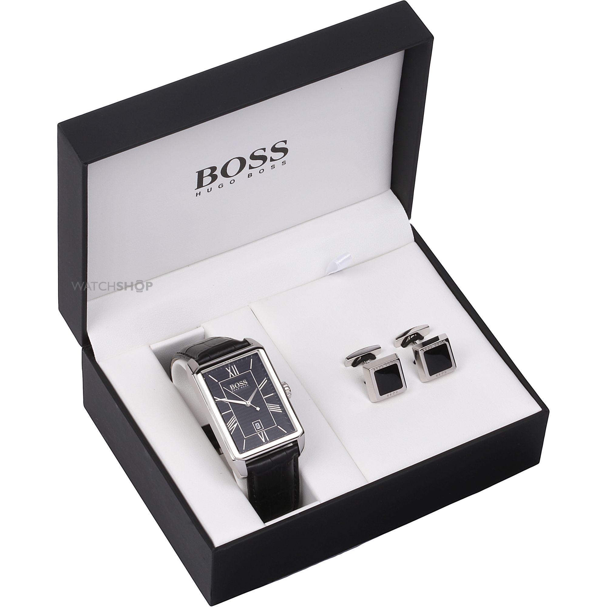 Men 39 s hugo boss cufflink box set watch 1570025 watch for Men s jewelry box for watches and cufflinks