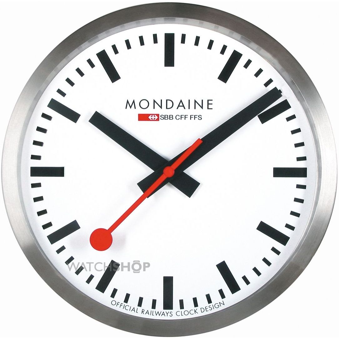 Mondaine Swiss Railways Large Wall Clock A995 Clock 16sbb