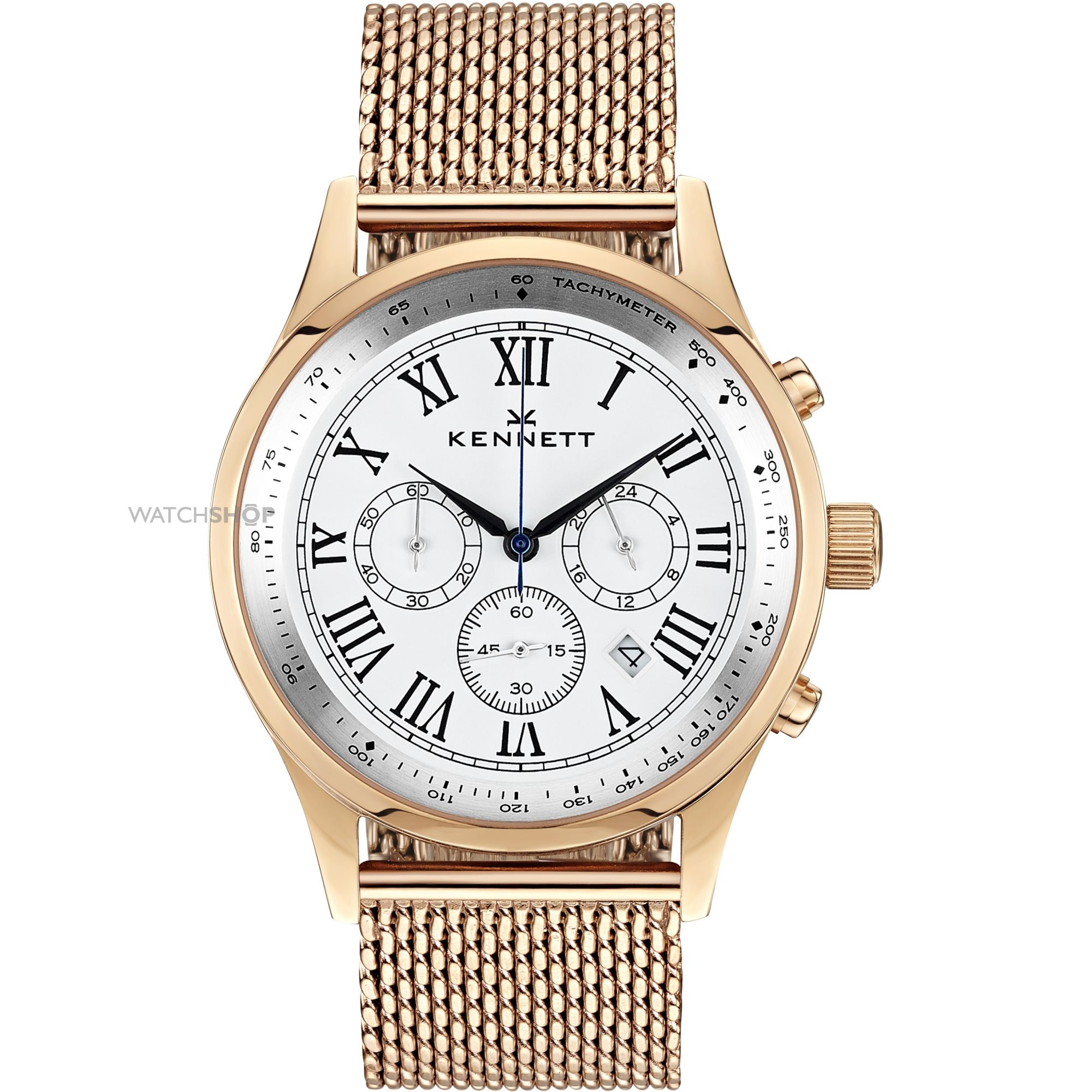 men s kennett savro gold white milanese chronograph watch mens kennett savro gold white milanese chronograph watch wsavrgwhmil